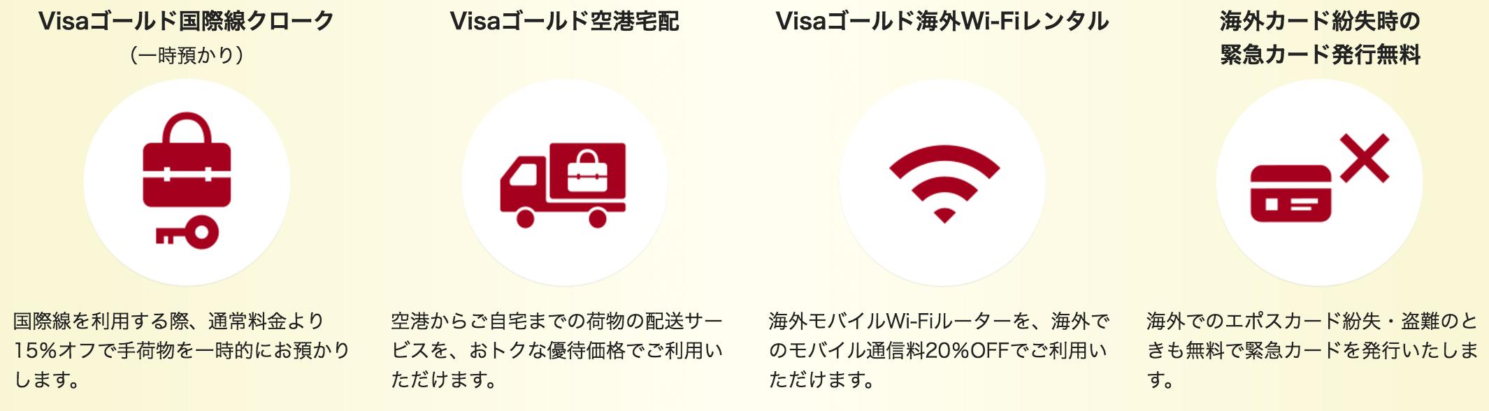 エポスゴールドカード Visaゴールドカード特典