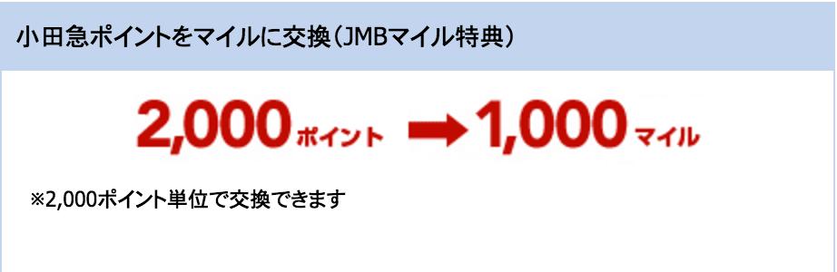 JALカード 小田急 ポイント交換