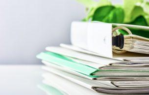 Files. Pile of paperwork