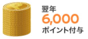 ボーナスリワードプログラム 6000