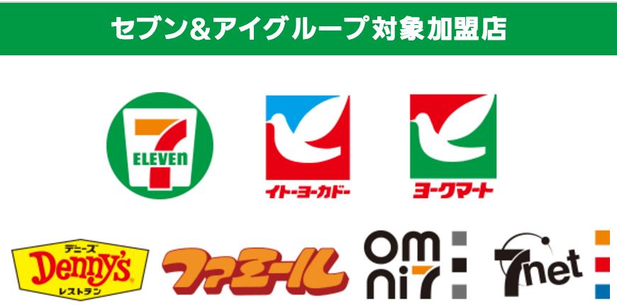 セブン&アイグループ加盟店のロゴ一覧