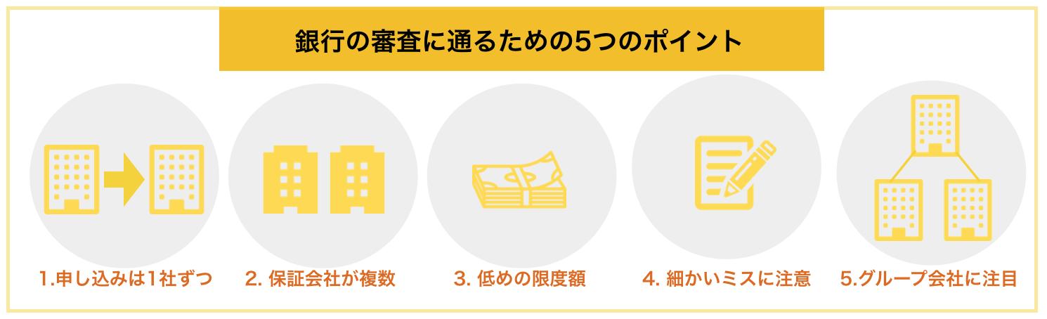 銀行の審査に通るための5つのポイント