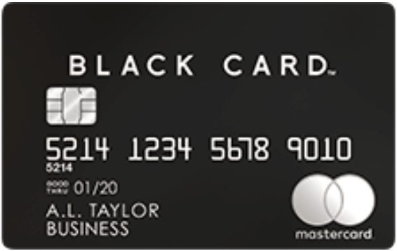 Mastercard Black Card(法人口座決済用)の券面