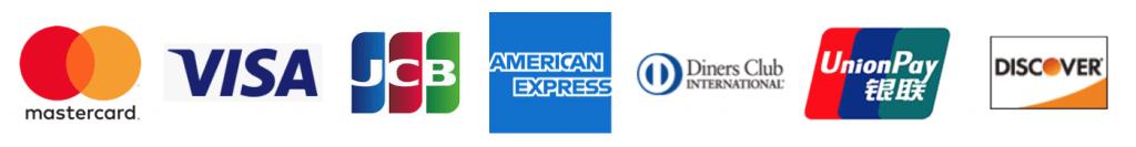 クレジットカード7大ブランドのロゴ