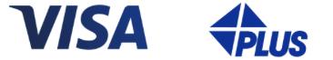 VISAとPLUSのロゴ