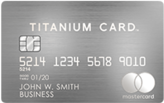 Mastercard Titanium Card Businessの券面