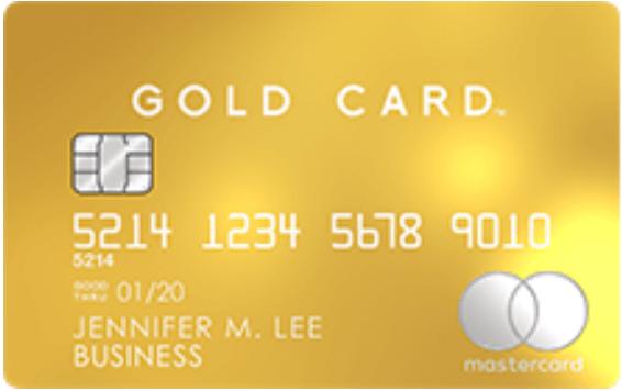 Mastercard Gold Card(法人口座決済用)の券面