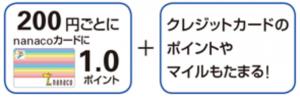 JCBカード QUICPay(nanaco)セブンイレブン