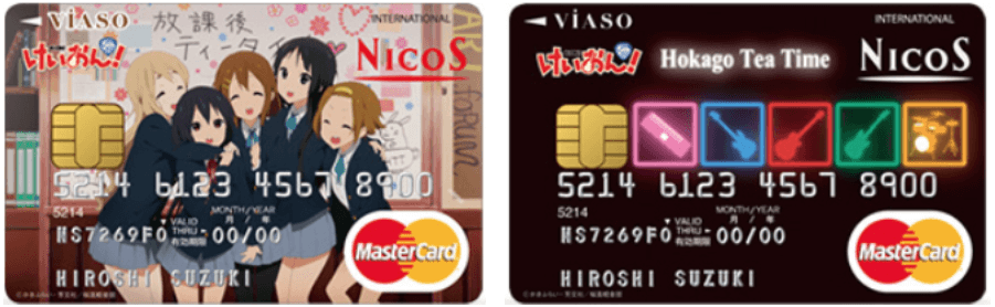 VIASOカード(けいおん!デザイン)の券面