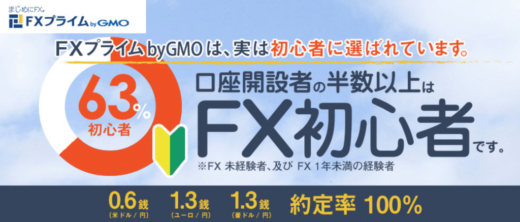『FXプライムbyGMO』の公式ページ