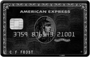 アメリカン・エキスプレス・センチュリオンカードの券面