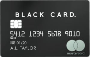 Mastercard Black Cardの券面