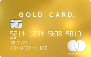Mastercard Gold Cardの券面