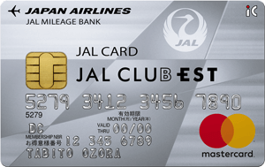 JAL CLUB EST Mastercard 普通カードの券面