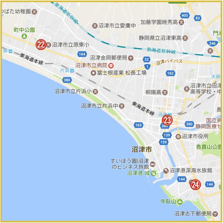 静岡県沼津市にあるアイフル店舗・ATMの位置
