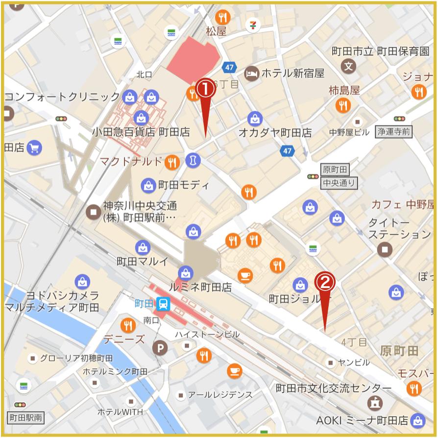 町田駅周辺にあるアイフル店舗・ATMの位置