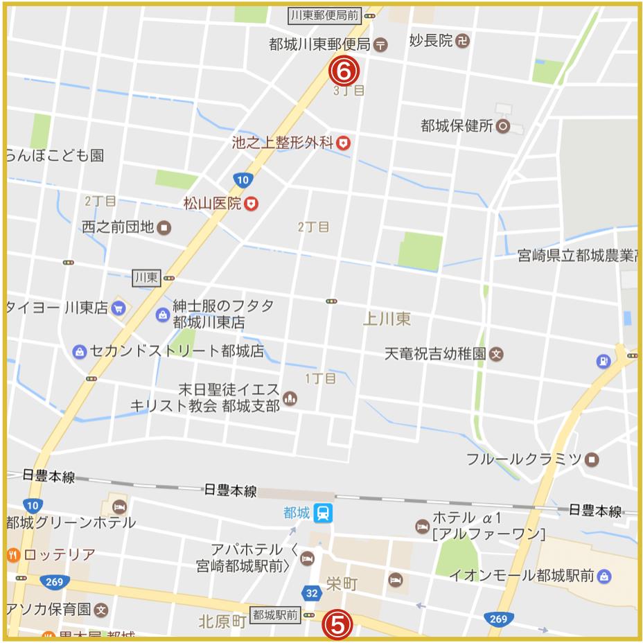 宮崎県都城市にあるアイフル店舗・ATMの位置