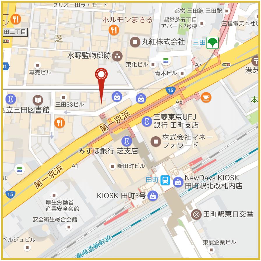 田町駅周辺にあるアイフル店舗・ATMの位置