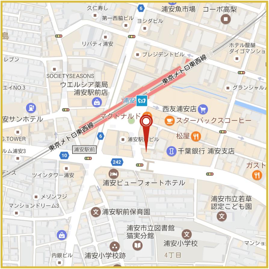 浦安駅周辺にあるアイフル店舗・ATMの位置