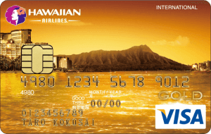 ハワイアンエアラインズVISAゴールドカードの券面