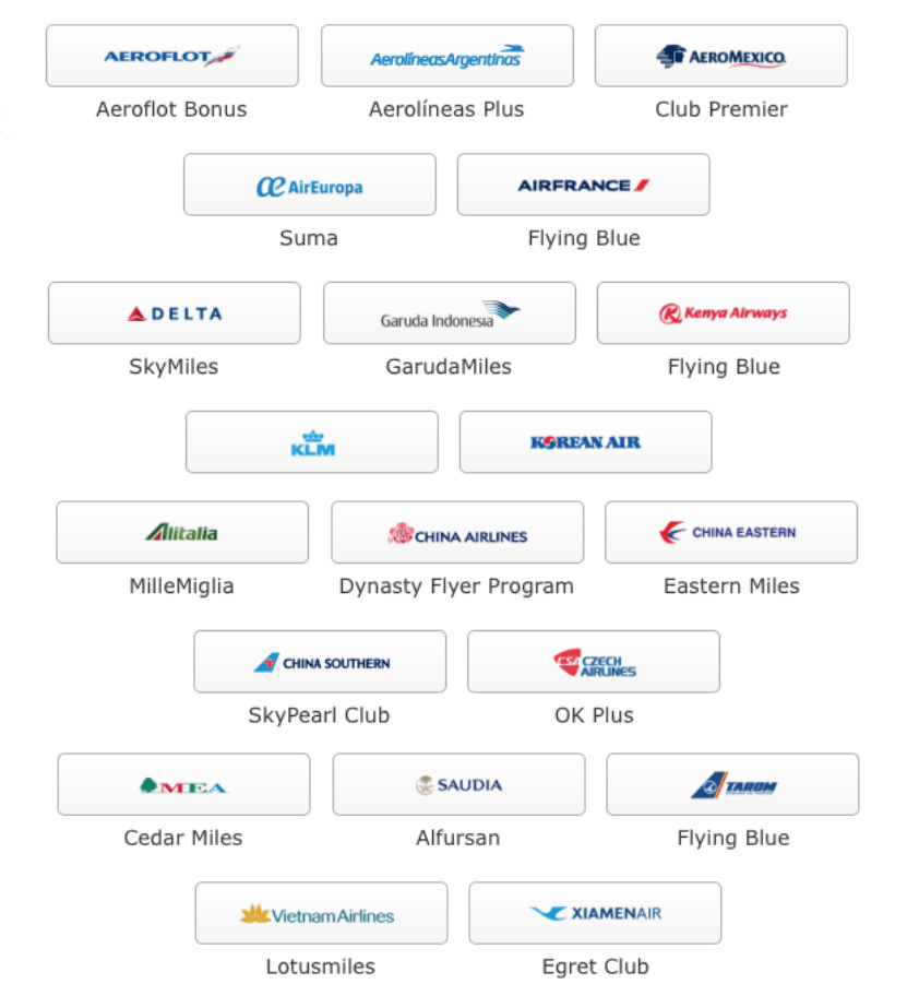 スカイチーム加盟航空会社のロゴ一覧