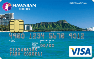 ハワイアンエアラインズVISAカードの券面