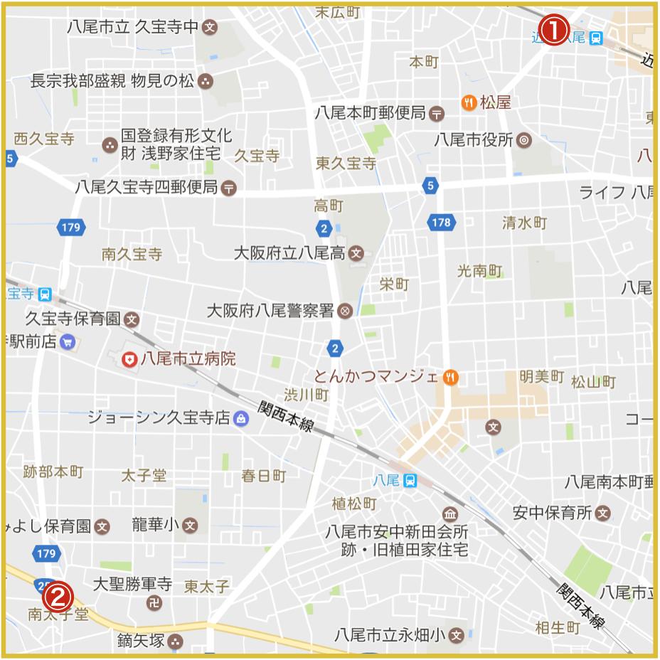 八尾市にあるプロミス店舗・ATM