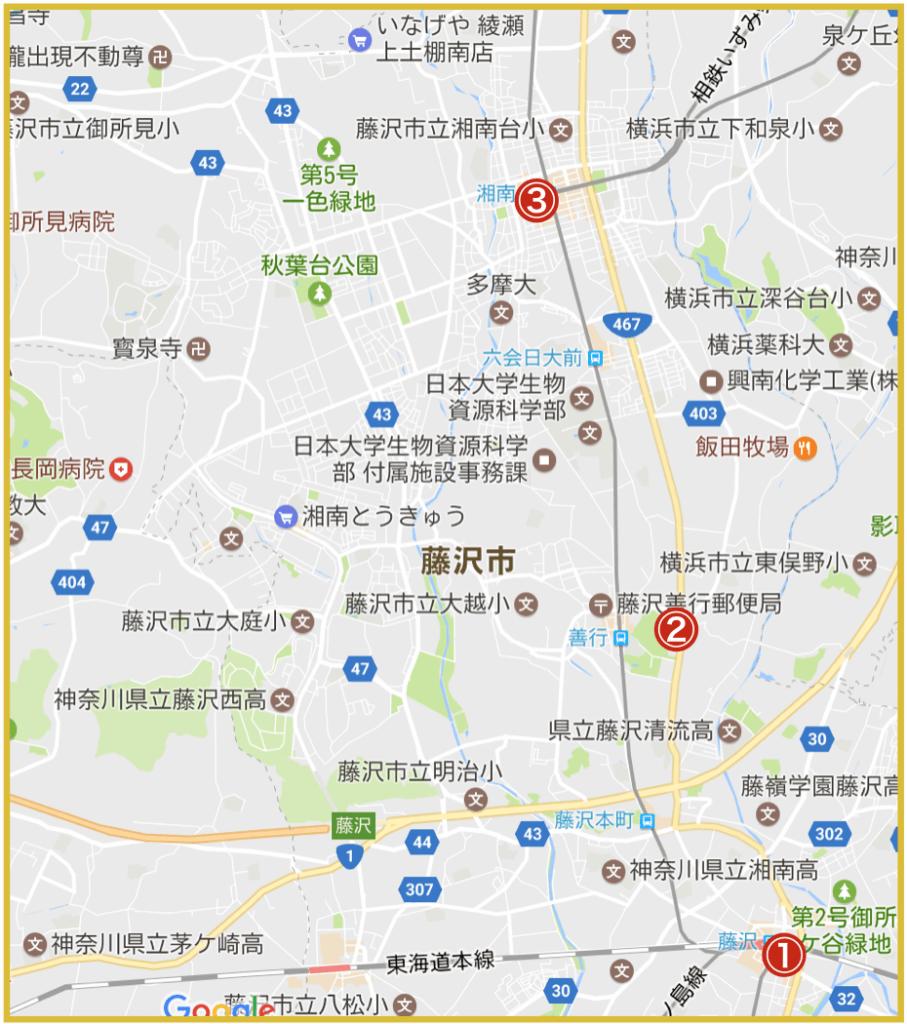 藤沢市にあるプロミス店舗・ATMの位置