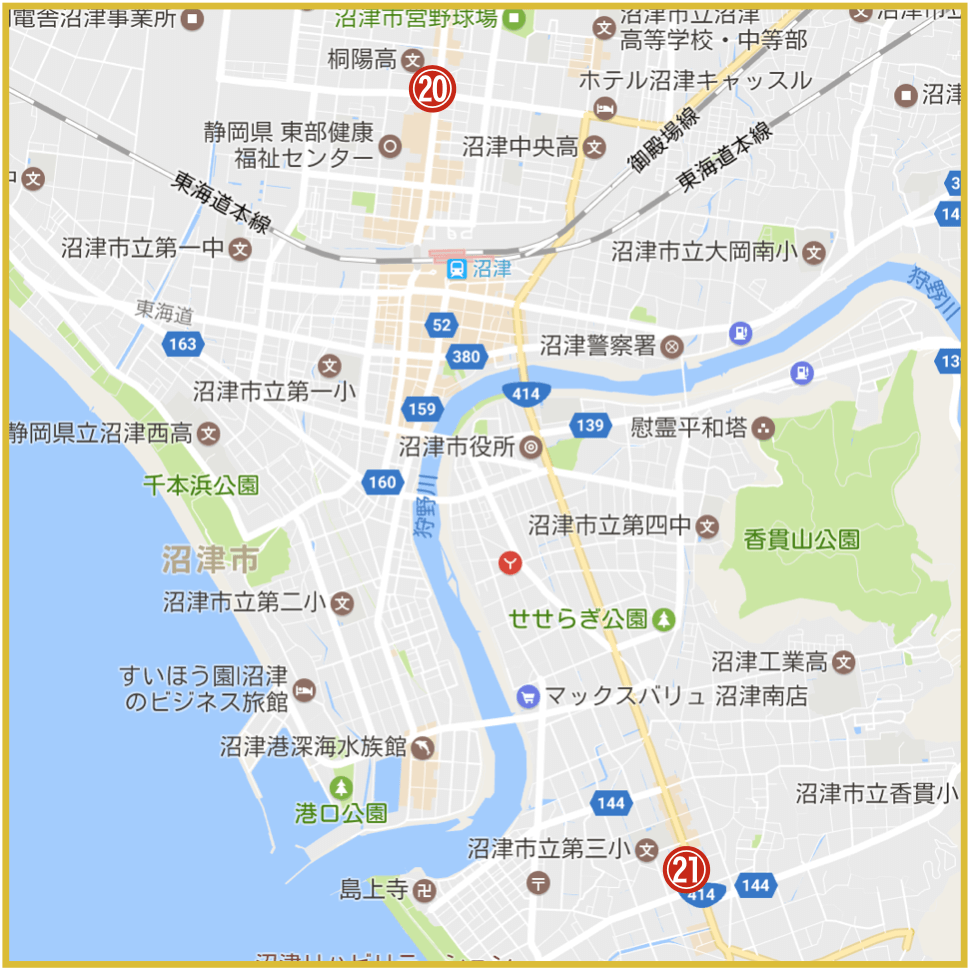 静岡県沼津市にあるプロミス店舗・ATM