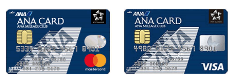 ANA 一般カードVISAとMastercardの券面(2019年4月版)