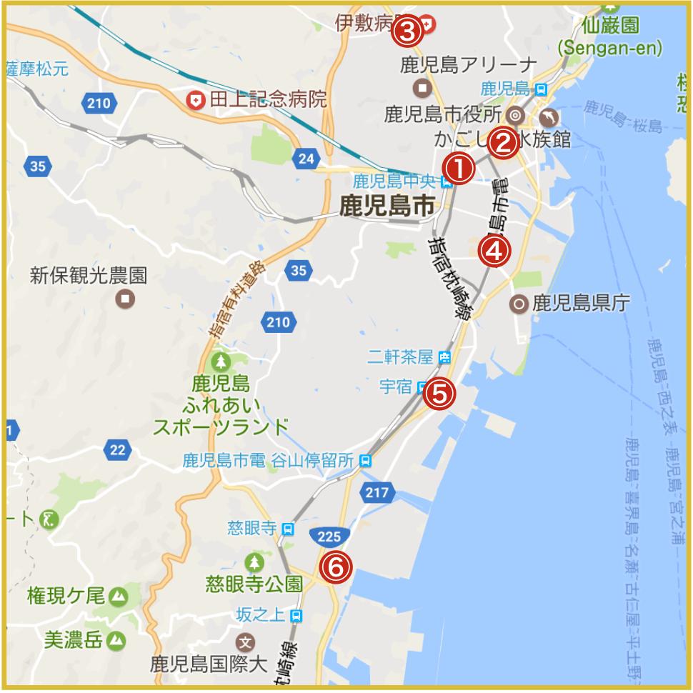 鹿児島県鹿児島市にあるプロミス店舗・ATMの位置