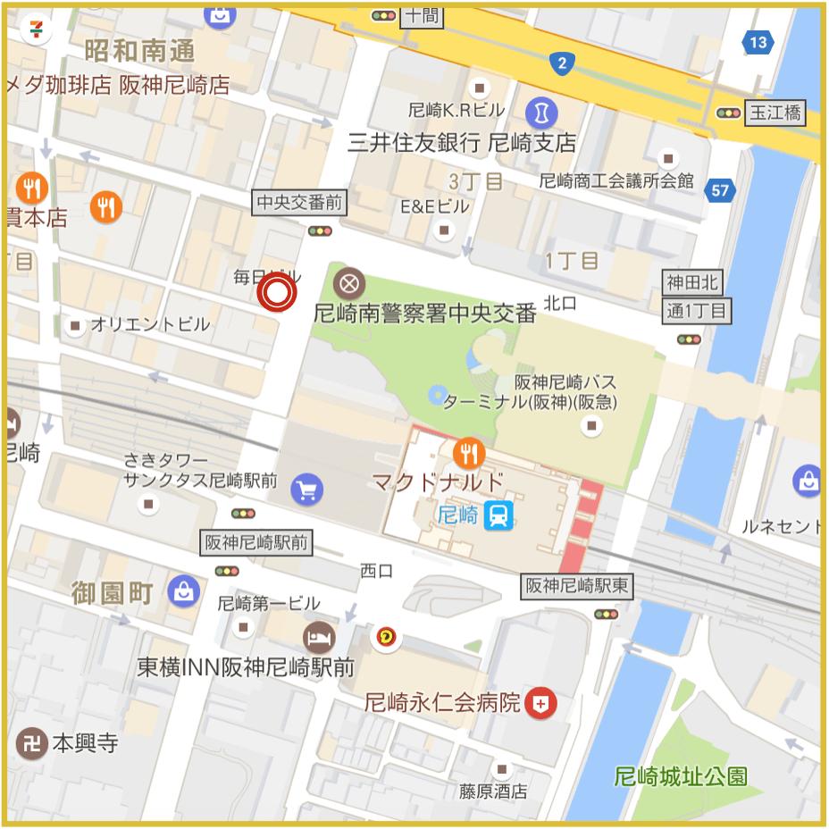 尼崎駅周辺にあるプロミス店舗・ATMの位置