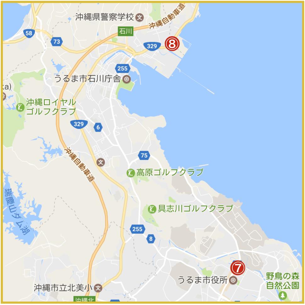 沖縄県うるま市にあるプロミス店舗・ATMの位置
