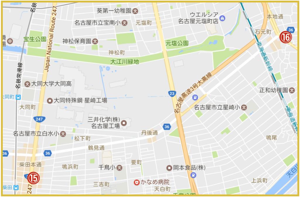名古屋市南区にあるプロミス店舗・ATMの位置