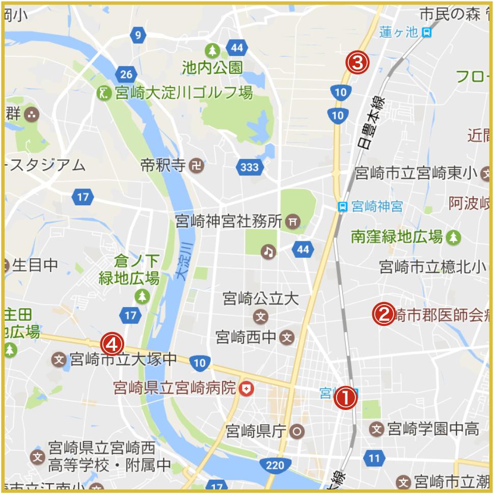 宮崎県宮崎市にあるプロミス店舗・ATM