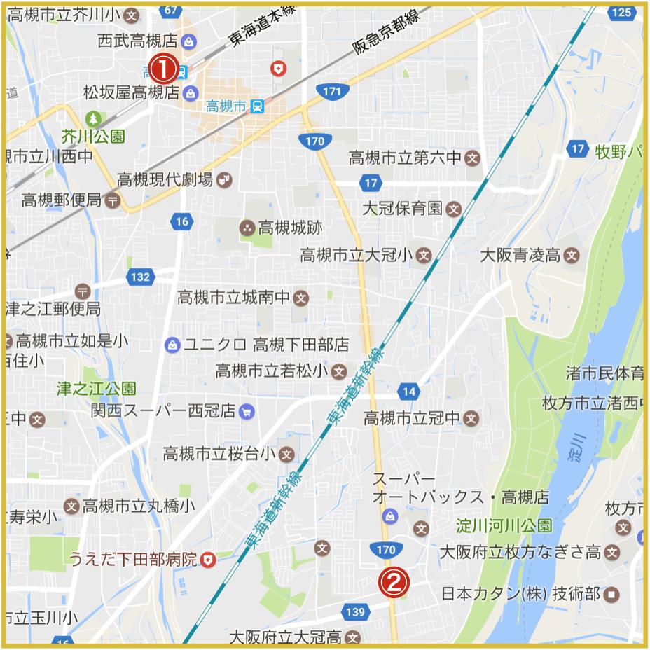 高槻市にあるプロミス店舗・ATM