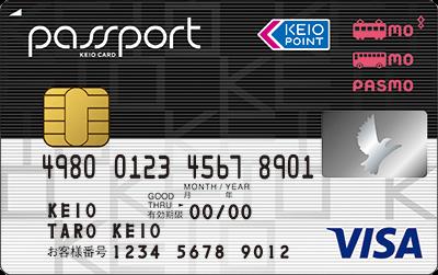 京王パスポートPASMOカード VISAの券面