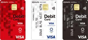 三菱UFJ-VISAデビットの新しい券面(Visaのタッチ決済付き)