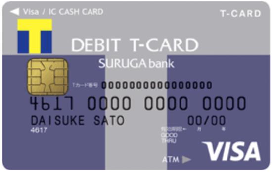 VisaデビットTカード デビットTカード スルガバンク 券面