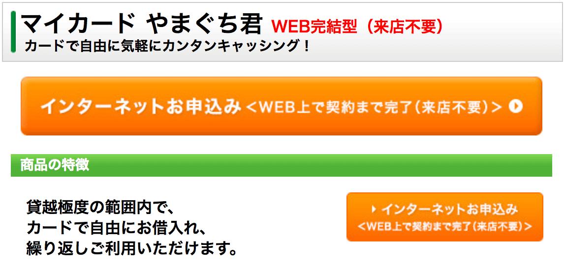 マイカード やまぐち君 WEB完結型