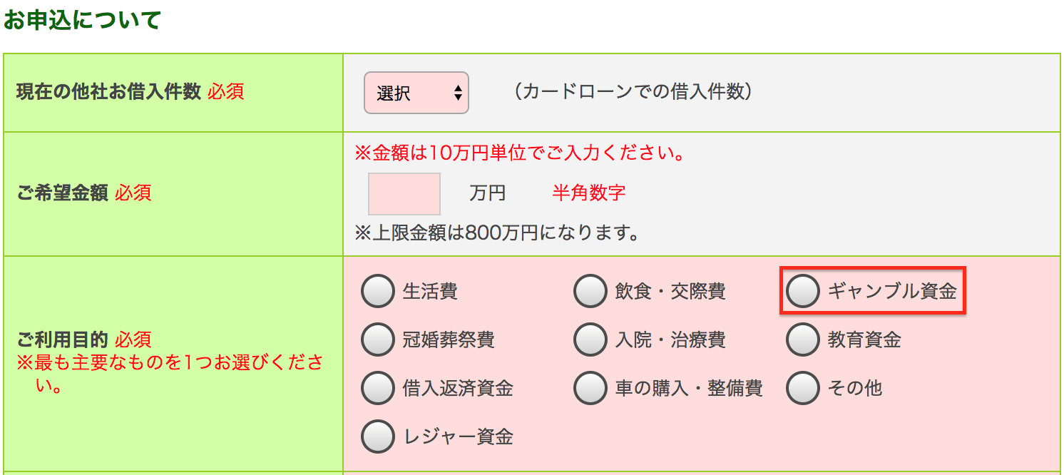 三井住友銀行カードローン「お申込みについて」