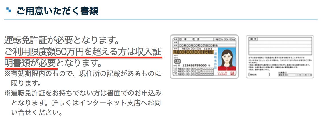 静岡銀行カードローン「セレカ」ご用意いただく書類