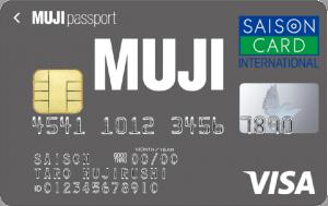 MUJIカードのIC付きVISAの券面