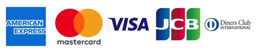 クレジットカード5大ブランドのロゴ