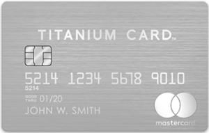 Mastercard Titanium Cardの券面