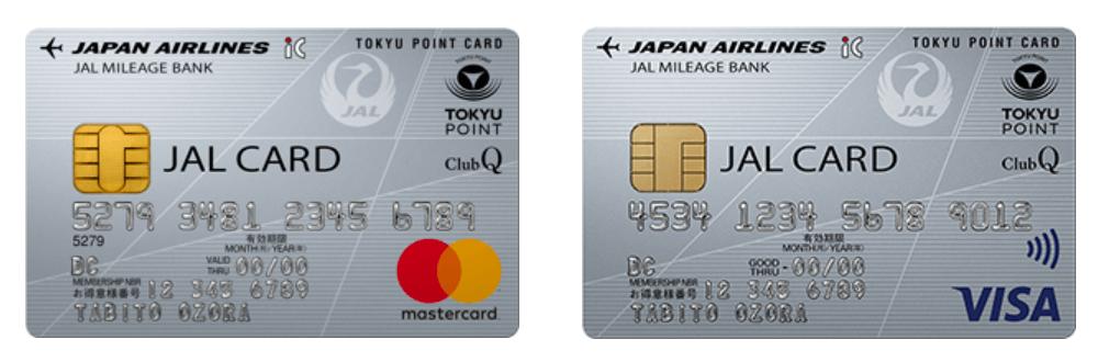 JALカード TOKYU POINT ClubQの券面(2019年6月版)