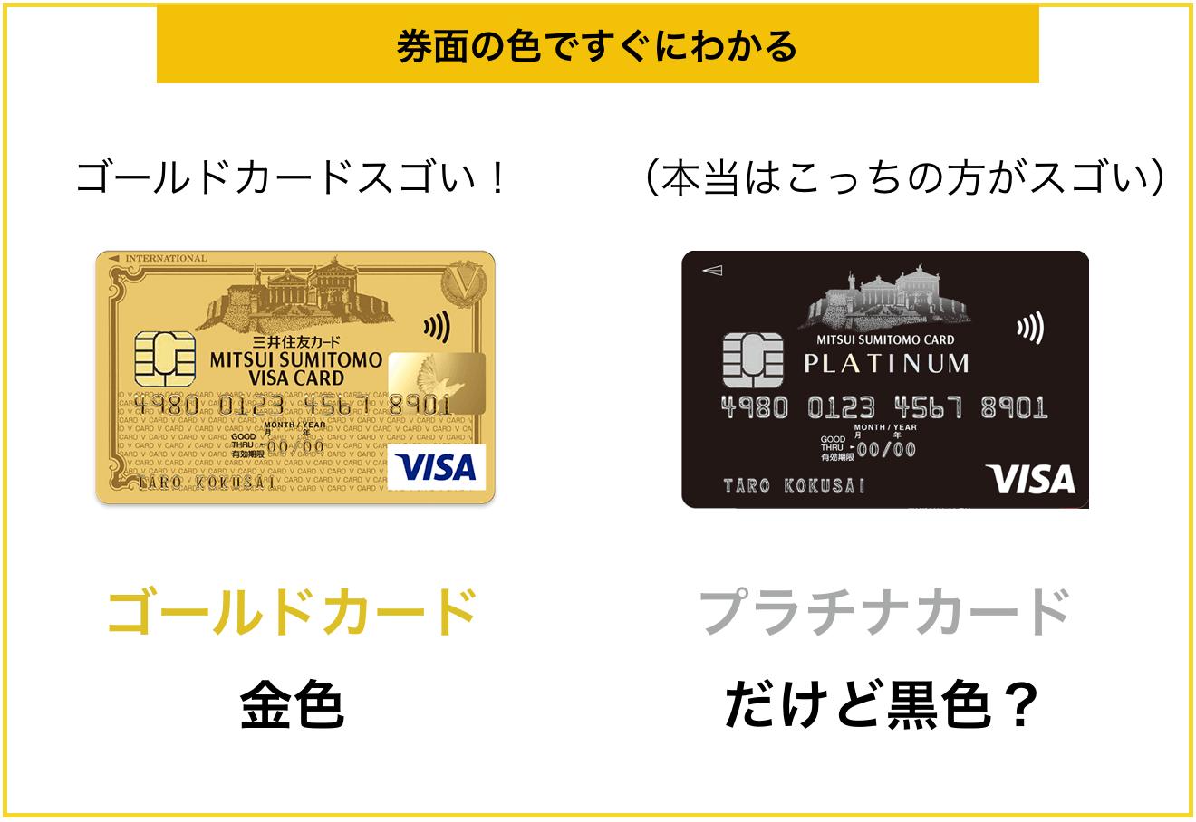 ゴールドカードは券面でステータスがわかりやすい