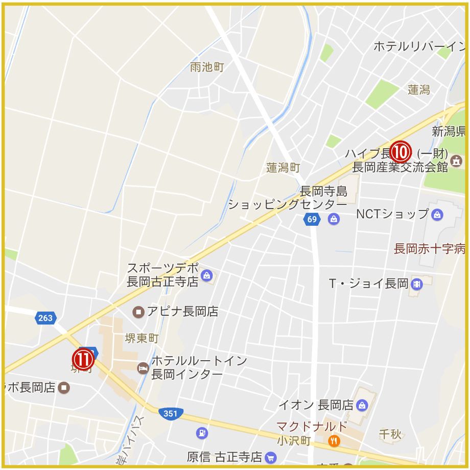新潟県長岡市にあるプロミス店舗・ATMの位置