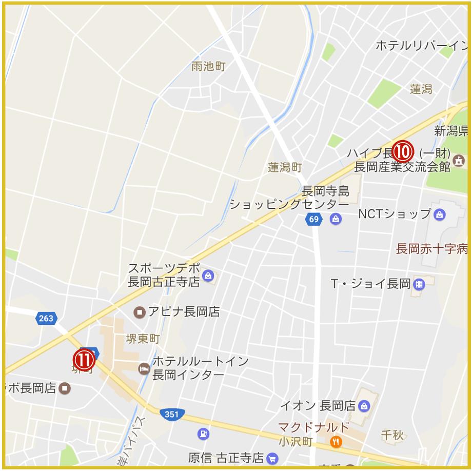 新潟県長岡市にあるアコム店舗・ATMの位置