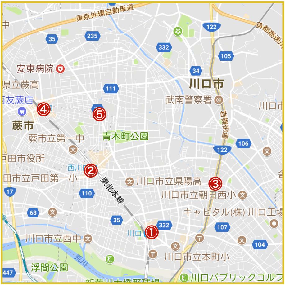 埼玉県南部地域にあるプロミス店舗・ATMの位置